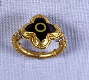 The Dover Saxon Ring, c.550 AD. A magnificent and important Anglo Saxon Gold ring.