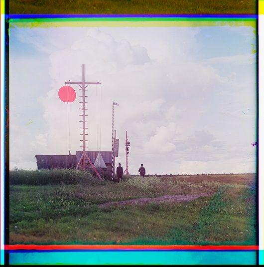 Sergueï M. Procoudine-Gorsky, Tour de signal du village de Bourkovo, juillet-août 1909