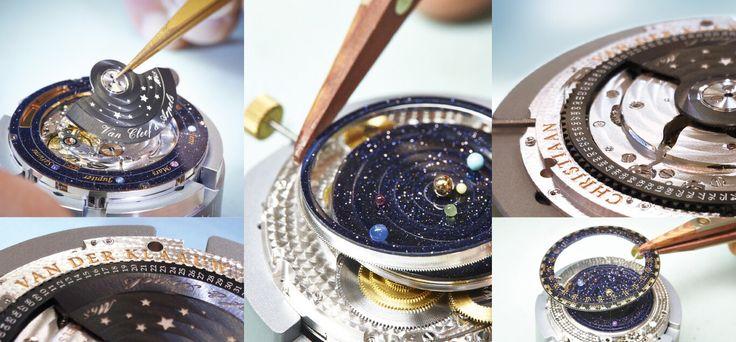Midnight Planetarium Poetic Complication (astronomical watch) by Christiaan van der Klaauw collaboration with Van Cleef & Arpels