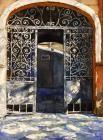 Старые ворота. Фарапонов Игорь Одесса Акварель Одеские дворы Odessa yards Odessa Watercolor