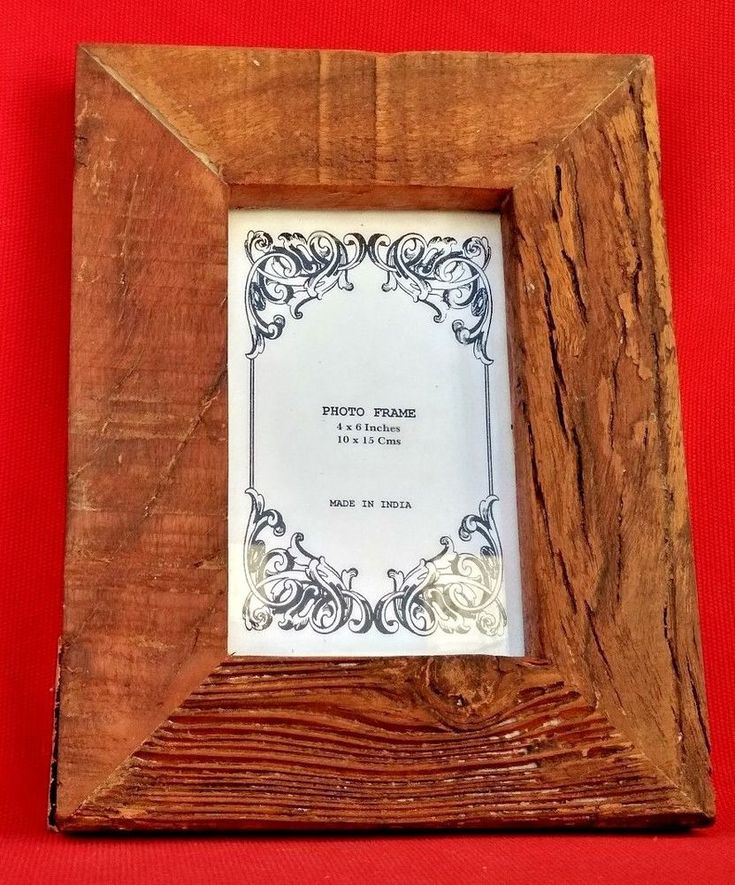 "4x6-2.5"" Wide India Reclaimed Rustic Handmade Wooden Picture/ Photo Frame #Handmade #AntiqueStyle"