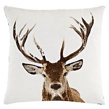 Buy John Lewis Stag Head Cushion Online at johnlewis.com