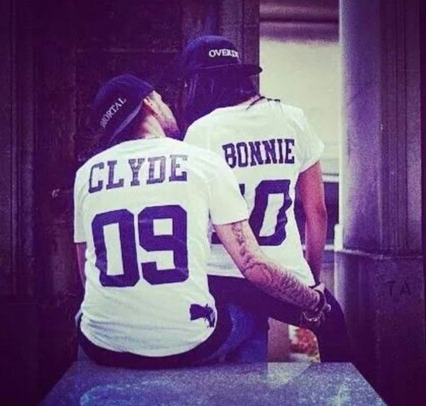 couple bonnie and clyde matching couples matching tee shirts