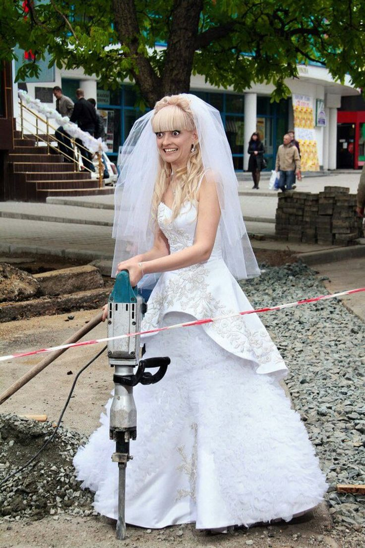 Неудачные свадебные фотографии