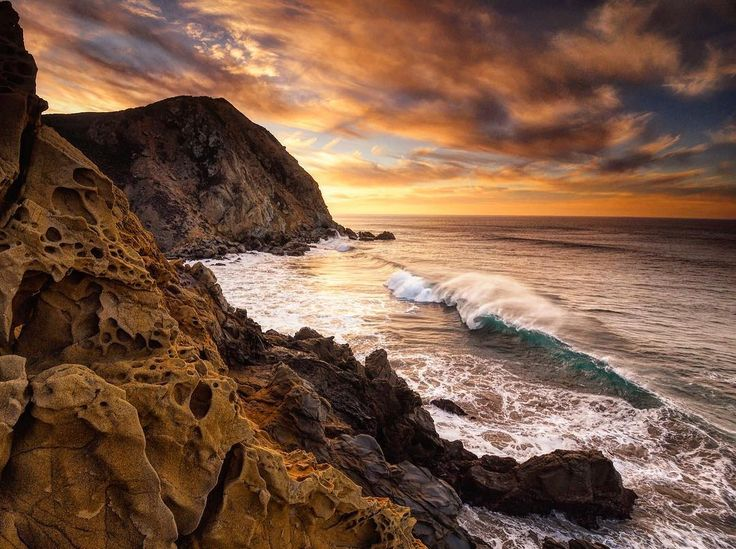 "National Geographic on Instagram: ""Photo @ladzinski / Early morning waves, rolling in and crashing on the rocky shores of #PfeifferBeach on the #bigsur coastline. This quite…"""
