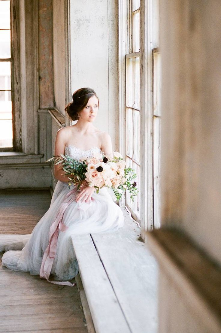 Classic and Elegant Bridal Inspiration in a muted palette via Magnolia Rouge