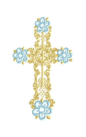 Free! Easter Cross Embroidery Design!