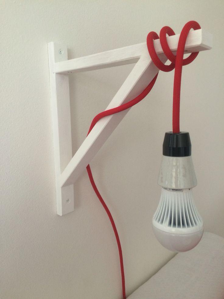 Red cable light #ourdiy #interior #designedlight