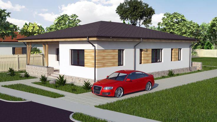Modern Bungalow house design. 3 bedroom house. Model A30