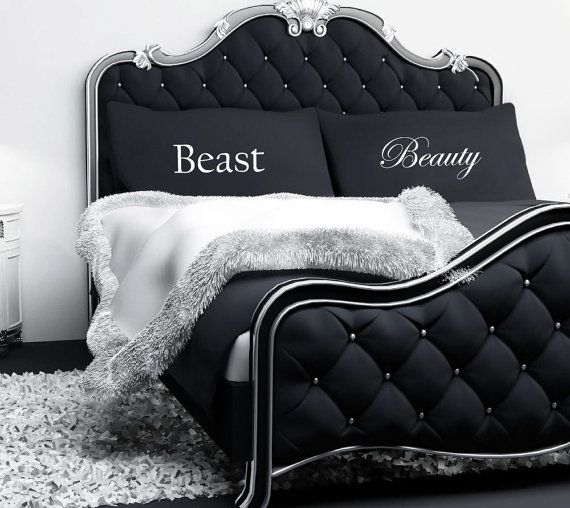 Couples Pillowcases Beauty and the Beast by TheWallStickerComp