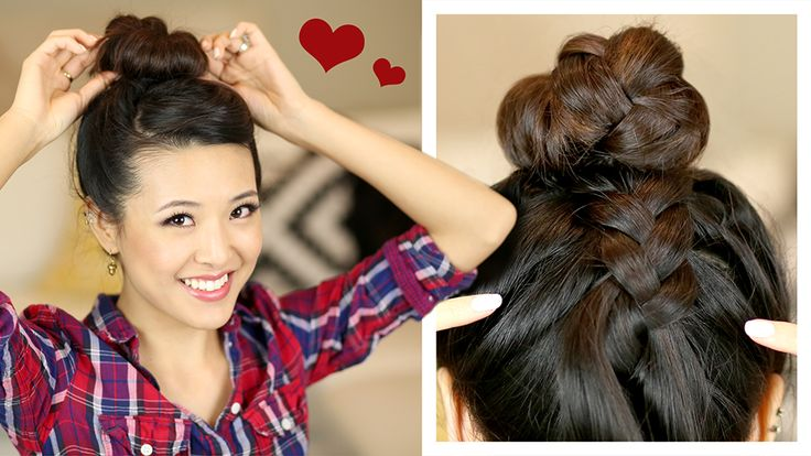 HAIR TUTORIAL: French Braid Sock Bun