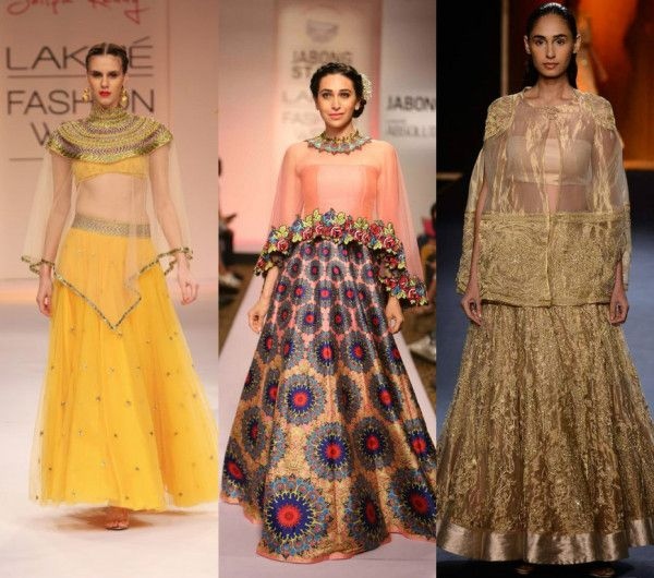 Lehengas with capes