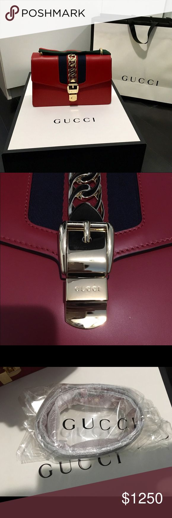 """GUCCI sylvie small size bags. New 99%. Used several times. No damaged or scratchs. Small size. 10""""W Gucci Bags Shoulder Bags"""