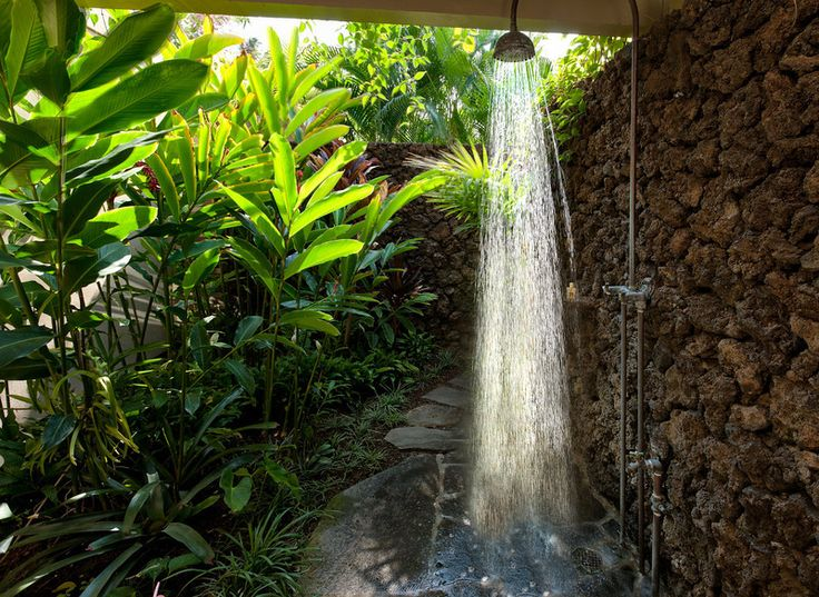 The outdoor shower Delight in the garden For the Yard