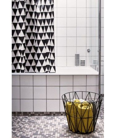 rideau de douche design triangle noir et blanc ferm living httpwww - Rideau De Douche Color