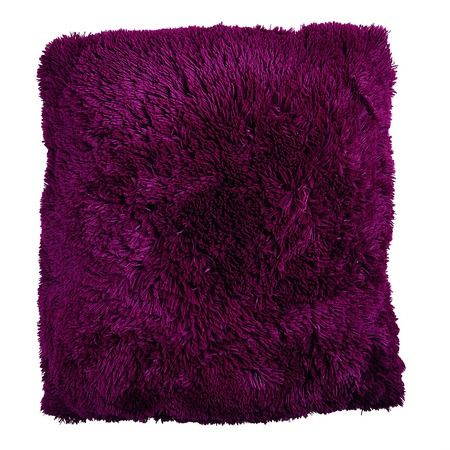 Habito Floor Cushion Shaggy Boysenberry 60cm x 60cm