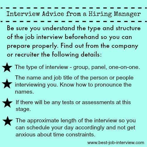Be sure to understand the type and structure of the job interview beforehand so you can prepare properly. Contact with the company and recruiter about the type of interview, like group, panel or one to one. The person name and designation name of the person who take the interview.   #EffectiveInterviewTechniques #Objective #AlwaysBePositive #Management #Style #Seniors #Subordinates #GenericPlanet #HR #JobTips #CareerCounsling #Questions #Answers #Sharing #Marketing #SocialMedia #JobInterviewTips