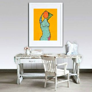 """Summer Fun"" - original figurative pastel drawing by Sabina D'Antonio"