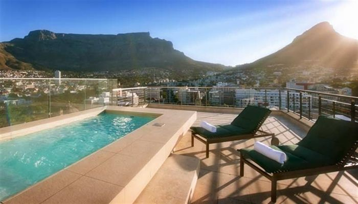 Lounging at Pepper Club Hotel Pool Cape Town, South Africa