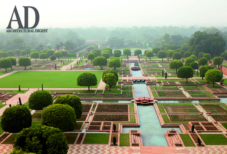This symmetrical mughal garden at rashtrapati bhavan was for Landscape architects in india