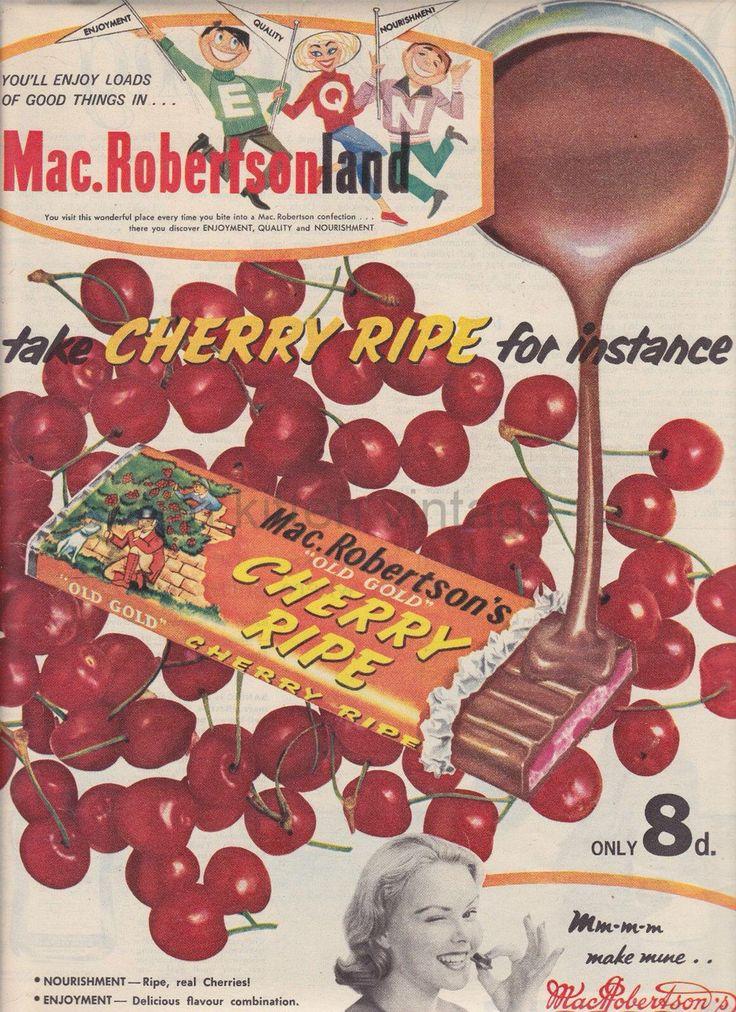Cherry ripe 1960 Australia