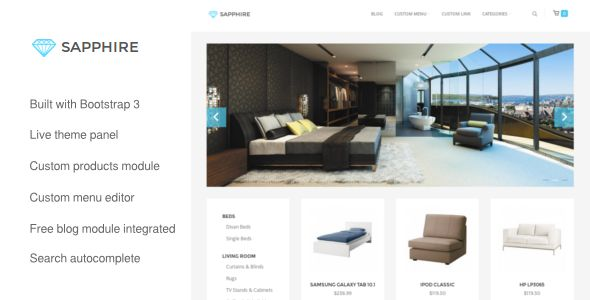 Sapphire - Bootstrap 3 Opencart Theme