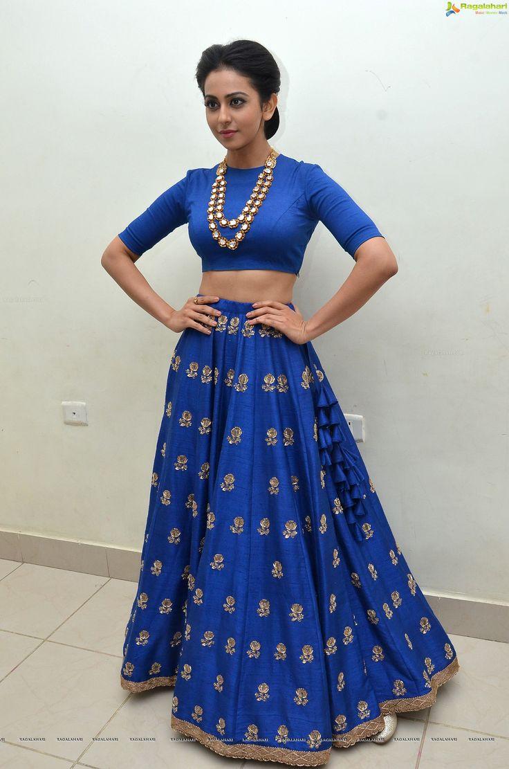 Raw silk lehenga worn by the gorgeous Rakul Preet Singh