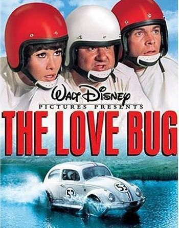 "The Love Bug (1969) Washed-up race car driver Jim Douglas's career gets a boost when he begins driving a peppy Volkswagen Beetle. But Douglas soon realizes ""Herbie"" the VW literally has a personality of its own, and it is responsible for the first-place finishes! Herbie and his crew race across California to get even with a crooked car dealer in this classic live-action Disney tale was the highest grossing film of 1969. Dean Jones, Buddy Hackett...family"