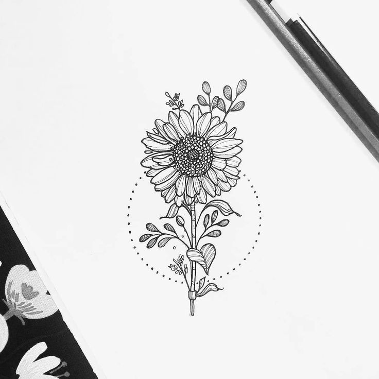 27 Comments Black And White Illustrations Blackwo 10k Black Blackworknow Comments Illust Sunflower Tattoos Floral Tattoo Sleeve Sunflower Tattoo Shoulder