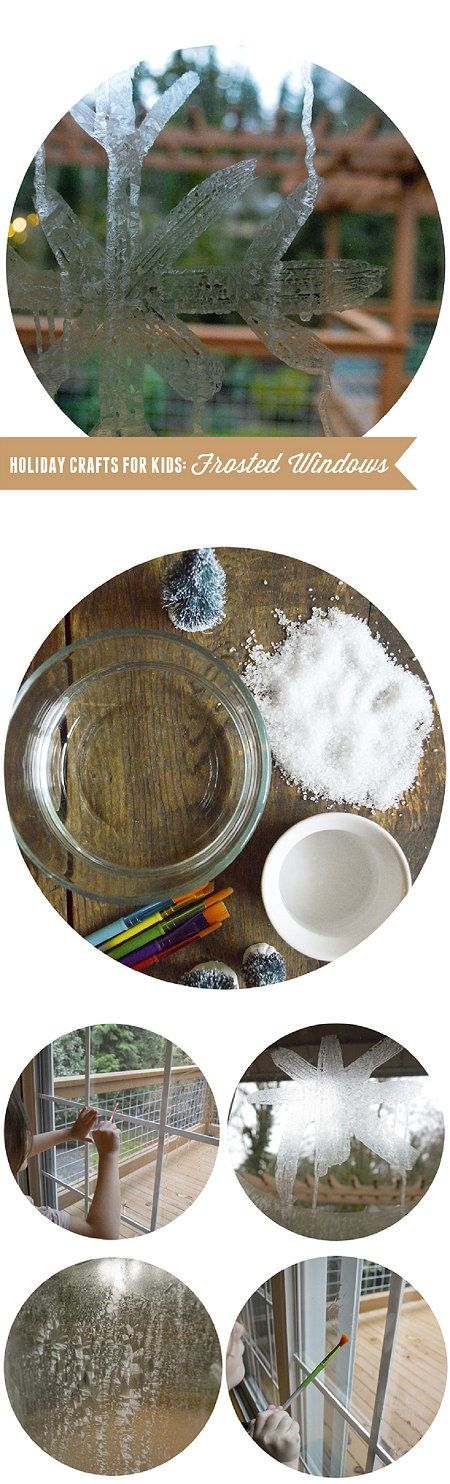 {Easy Holiday Crafts with Kids: DIY Frosted Windows} 3 Simple Ingredients