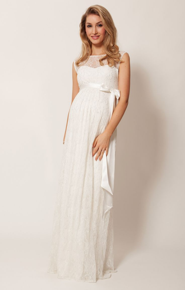 Ellie Maternity Wedding Gown Long Ivory by Tiffany Rose