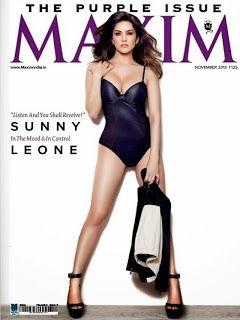 sunny leone posing for maxim magazine