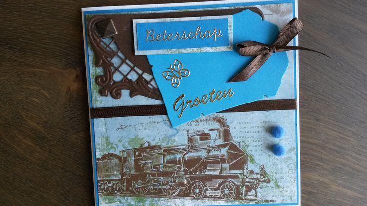 Mannenkaart gemaakt met trein