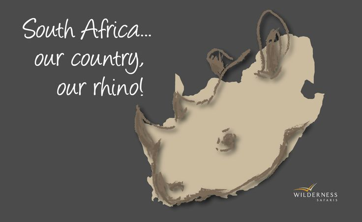 South Africa... our country, our rhino!