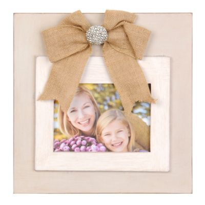 Cream Picture Frame with Burlap Bow, 5x7 | Kirklands