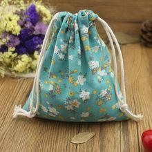 Бесплатная доставка аквамарин голубой белье хлопок сумки для всякой всячины организация / цветочек путешествий или домашнего хранения сумки для женщин подарки(China (Mainland))