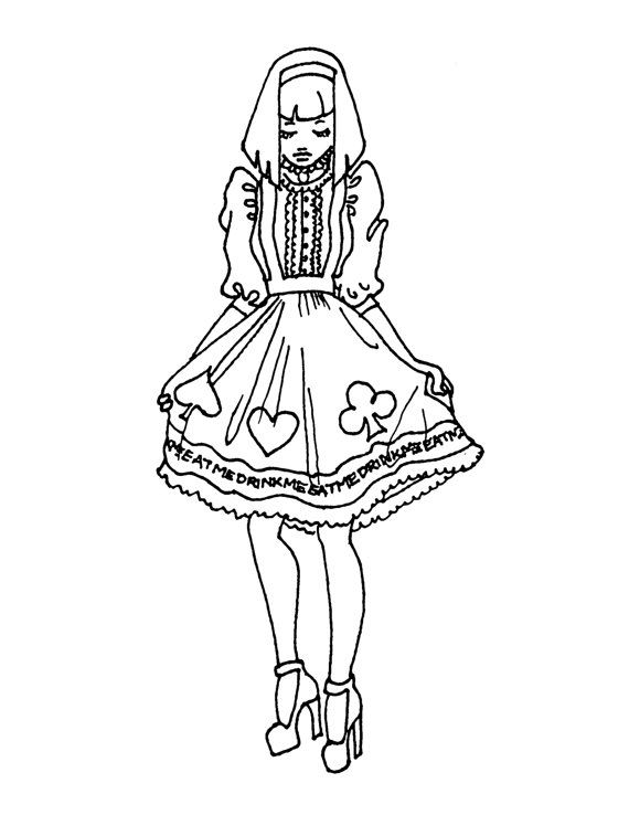 You Can Enjoy Coloring These Creepy Cute Dark Kawaii Adult