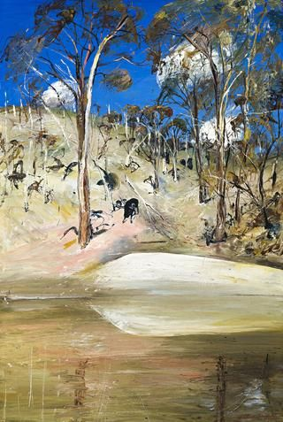 Waterhole and Ram, c1981.