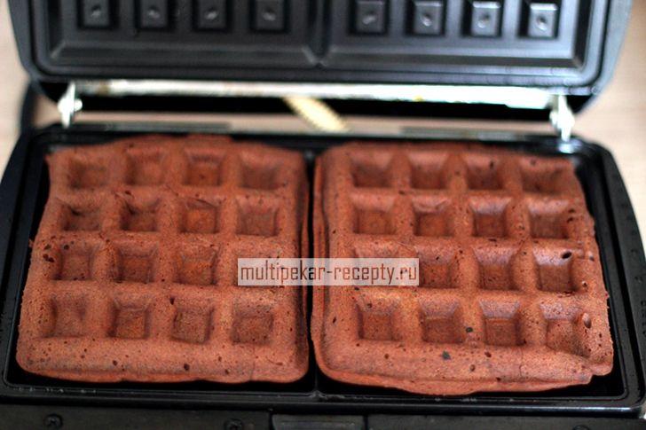 Шоколадные вафли в мультипекаре (Венские)