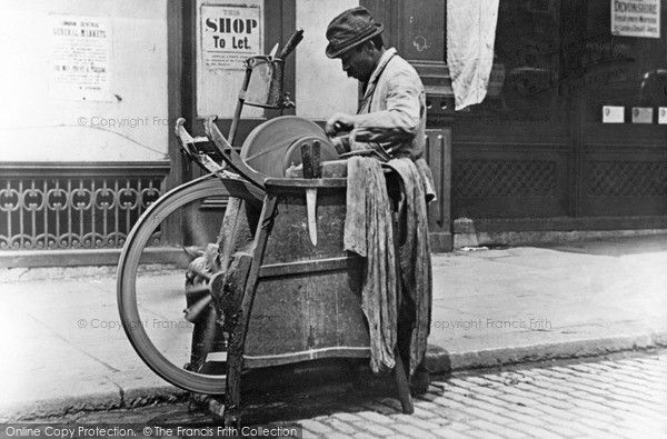 London, Knife Sharpener c.1885, from Francis Frith