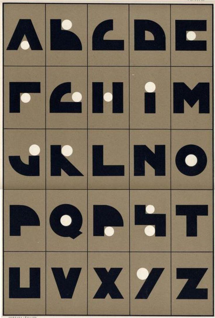 Schrift 1920-1930 Typografie / Buchstaben / Alphabet