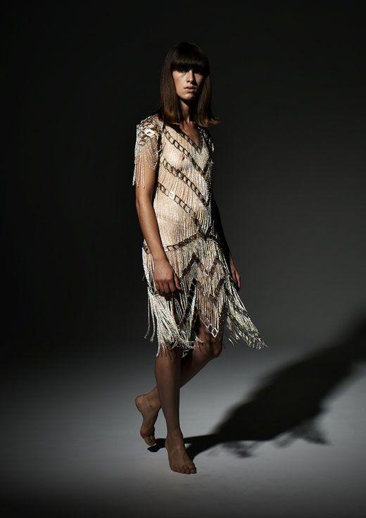 dress made of jewelry by Alexi Freeman & Tessa Blazey.