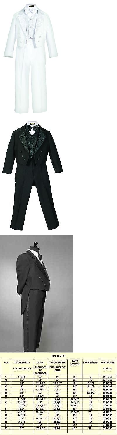 Suits 99754: Clearance Black White Tuxedo Tail Toddler Boy Communion Ring Bearer Recital Suit -> BUY IT NOW ONLY: $30.85 on eBay!