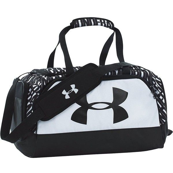 Under Armour Women's Watch Me Duffel Bag (55 AUD) ❤ liked on Polyvore featuring bags, black sports bag, sport bag, black bag, sports bag and under armour
