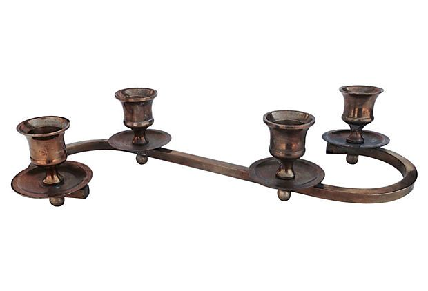 Footed Midcentury Candleholder on OneKingsLane.com