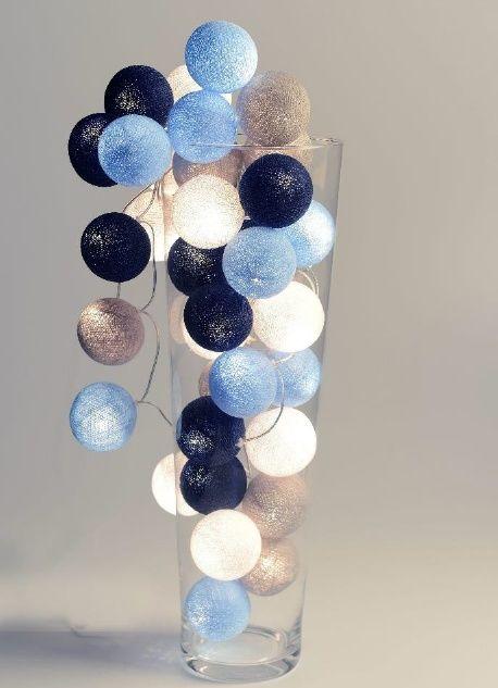 Cotton ball light Sailor Blue