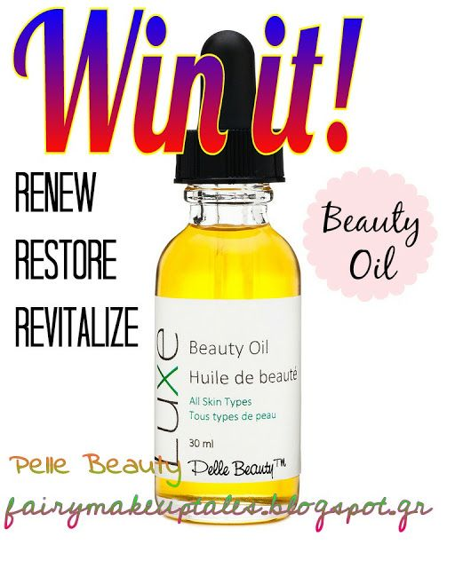 Fairy make-up tales . . . . : Win a Luxe-urious Beauty Oil by Pelle Beauty!