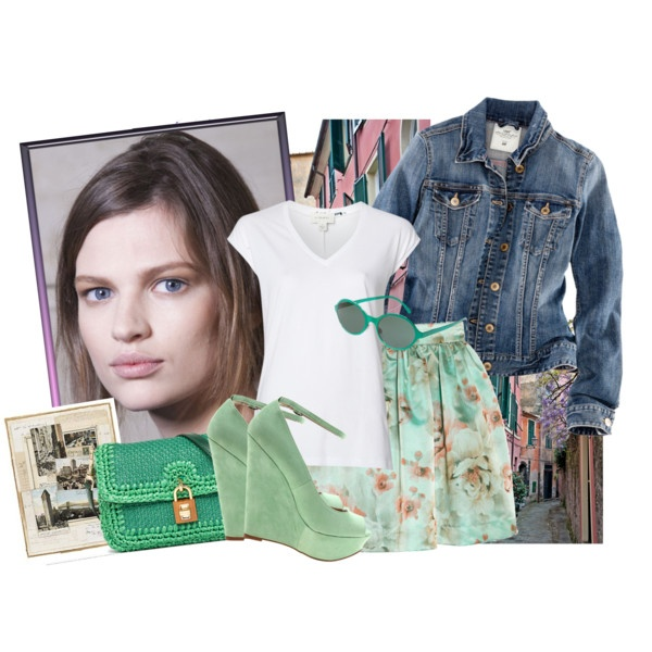 """COLOR VERDE MENTA by fran-guess"" by fran-guess on Polyvore"