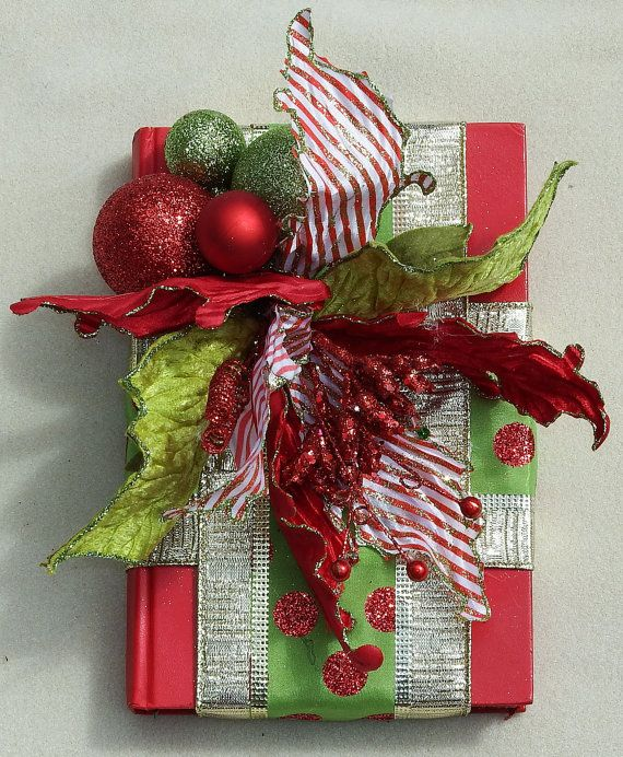 Peppermint Poinsettia Book by DesignsOnHoliday on Etsy