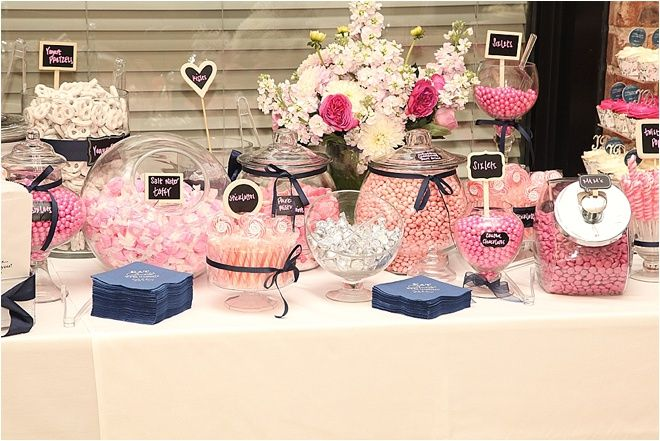 Pink Candy Bar at Wedding Reception ~ Photo: Dream Photo & Video